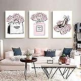 None brand Mode Paris Wandkunst Pink Rose Parfüm Poster