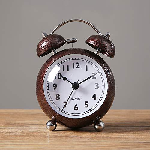 Luxuryclock polshorloge voor heren, van metaal met kleine wekker, stil pendelhorloge, uurwerk met uurwerk Bruin