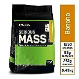 Optimum Nutrition Serious Mass, Mass Gainer avec Whey protéine, Proteines Musculation Prise de Masse avec Vitamines, Creatine et Glutamine, Banane, 16 Portions, 5,45 kg