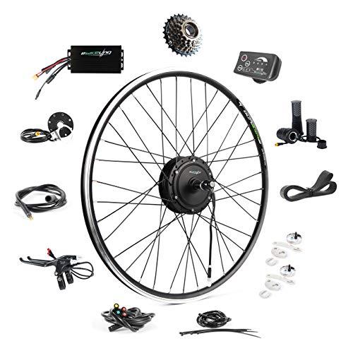 EBIKELING 36V 500W 700C Geared Waterproof Electric Bike Kit - Ebike Conversion Kit - Electric Bike Conversion Kit (Rear/LED/Twist)