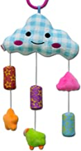 Accreate Baby Bed Ring 0-3 Years Old Newborn Baby Crib Pendant Clouds Wind Chime Hanging Toy Wind Chime Blue Cloud