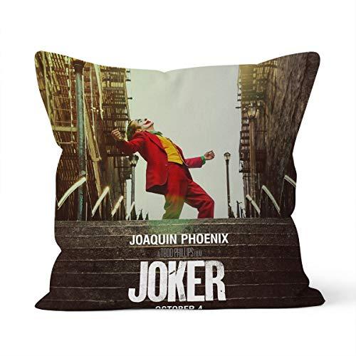 Funda de cojín de The Joker Home para dormitorio, cojín decorativo, tamaño 40 x 40 cm