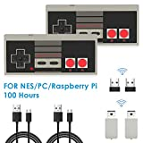 2 Stücke NES Wireless Controller für Nintendo Classic Mini, AGPTEK 2.4G Wireless Game Controller...