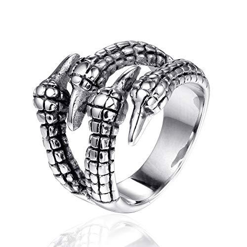 Anillo de Motociclista Hip Pop Bike Para Hombre Dedo de la joyería Anillo de acero inoxidable rock gótico garra anillo punky simple de acero Titanium de los hombres de regalo Combinando Perfectamente