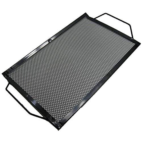 Land-Haus-Shop Grilltablett Eisen 40 cm, Barbecue Grill Tablett Rost Ablage Auflage, schwarz (LHS)