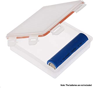 Anself Waterproof Battery Storage Box Battery Holder Protective Case 4 Slot 18650 Battery Transparent Strong Hard Case