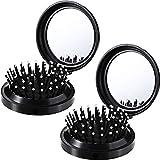 2 Cepillos de Pelo Plegables con Espejo de Viaje Cepillo de Pelo Plegable de...