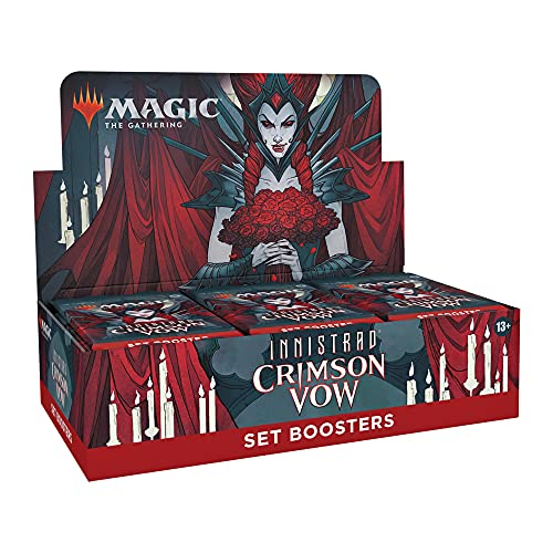 Magic: The Gathering Innistrad: Crimson Vow Set Booster Box | 30 Packs + Box Topper (361 Magic Cards)