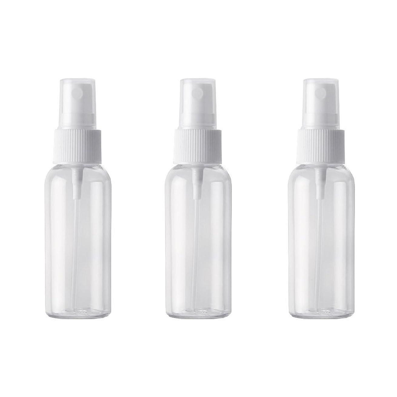 エアコン直感きゅうり小分けボトル スプレーボトル 50ml おしゃれ 空ボトル 3本セット 環境保護の材料 PET素材 化粧水 詰替用ボトル 旅行用品 (透明)
