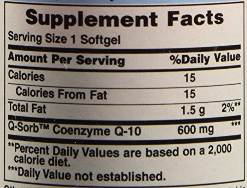 Puritan's Pride Q-Sorb CO Q-10 600 mg-30 Softgels