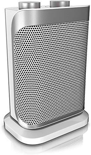 Brandson - NUOVO Termoventilatore ceramico con 2 livelli di potenza e Termostato - 1500 W a Tripla Protezione - Funzione ventilatore - Silenzioso 47 dBA - Certificato GS - INVERNO 2021 2022