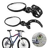 Forever Speed Ein Paar Universal Fahrradspiegel Lenkspiegel Verstellbar 360°,Fahrradspiegel für Lenker e-Bike Für Standard-Lenker Fahrrad Spiegel Set-Schwarz