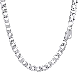"PROSTEEL Men Chain, 5/6/9/13MM Cuban Necklace, 14/18/20/22/24/26/28/30"", 316L Stainless Steel/Gold Plated/Black (Send Gift..."