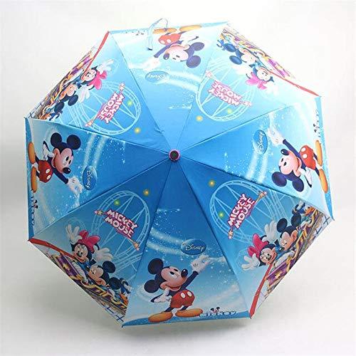 NJSDDB paraplu Disney Cartoon Minnie Mickey Mouse regen en regen dual use-drieslaapkamer paraplu student zonnescherm paraplu kinderen outdoor paraplu