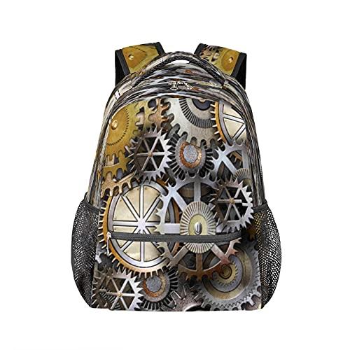 Mochila retro Gear duradera para ordenador portátil, resistente al agua, colegio, escuela, bolsa de ordenador de viaje, senderismo, camping, bolsa de hombro para mujeres y hombres