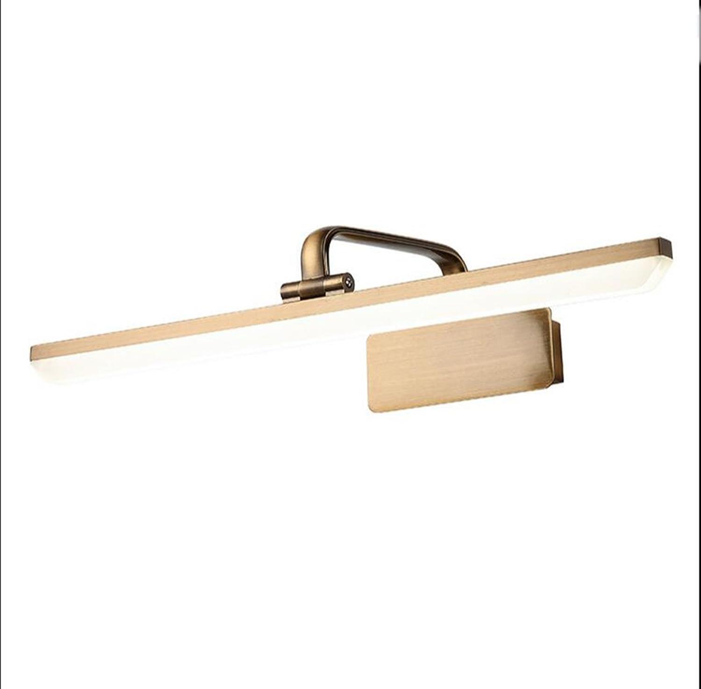 Verstellbar 240 Grad Acryl Led Badezimmer Spiegel Scheinwerfer Make-up Lichter (Farbe   Wei-9w 43cm)