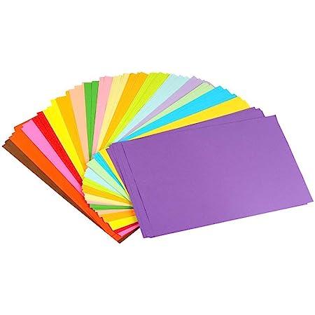erlliyeu Papier Origami faltpapier Double Page 100 feuilles 10 différentes couleurs pour DIY Artisanat de papier format A4 20*30cm