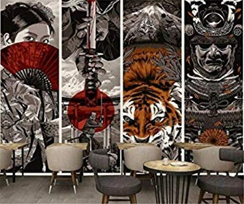Tapete Fototapete Hintergrund-Tapeten 3D Tapeten Tapete Benutzerdefinierte Tapete Japanischen Stil Samurai Ukiyo-E Hotel Restaurant Dekorative Malerei Weingut Kunst Tapete 300 * 210 Cm