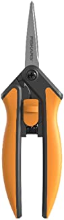 Fiskars Solid Snip Snoeien Microtip SP13, Lengte: 21,5cm, Hoogwaardige stalen messen/kunststof handvat, 1051600, Oranje/Zwart