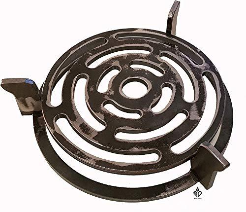 Becker Design Wok- und Pfannenhalterung mit Grillrost für Feuerplatte mit 20cm Feuerloch