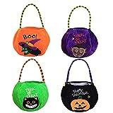 RXXR - Sacchetti per Halloween per dolcetti o dolcetti con zucca, in tela, per caramelle, Halloween, per feste in costume