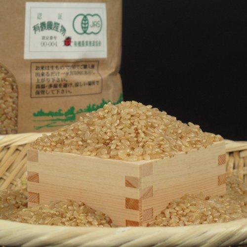 新潟県南魚沼産 笛木氏作 万田酵素米 JAS有機栽培米(無農薬) 玄米 コシヒカリ 30kg 令和2年度産