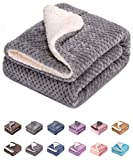 Fuzzy Dog Blanket or Cat Blanket or Pet Blanket, Warm and Soft, Plush Fleece Receiving Blankets for Dog Bed and Cat Bed , Couch, Sofa, Travel and Outdoor, Camping (Blanket (24' x 32'), DW-Flint Gray)