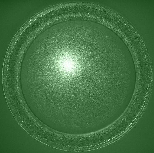 Mikrowellenteller / Drehteller / Glasteller für Mikrowelle # ersetzt LIFE Mikrowellenteller # Durchmesser Ø 35,5 cm / 355 mm # Ersatzteller # Ersatzteil für die Mikrowelle # Ersatz-Drehteller # OHNE Drehring # OHNE Drehkreuz # OHNE Mitnehmer