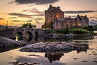 スコットランドアイリーンドナン城、ドナン島、LoughDuich大人のパズルの子供たち1000ピース木製パズルゲームギフト家の装飾特別な旅行のお土産