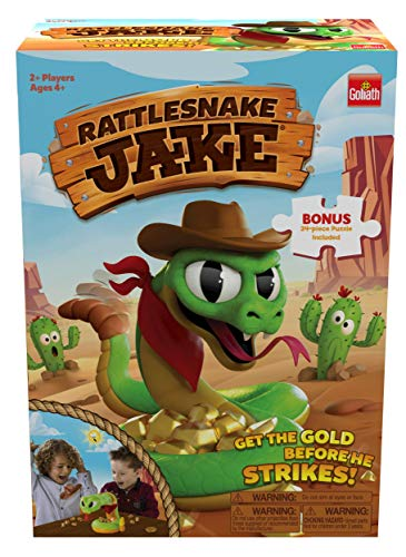 Rattlesnake Jake - Get The Gold Before He Strikes! Game - Includes A Fun Colorful 24pc Puzzle by Goliath