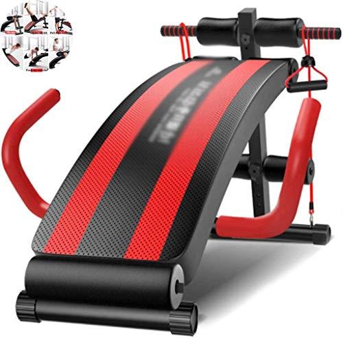COUYY Sit Up Bench Multifunktionale Bauchtrainingsgerät für Männer und Frauen Sit Up Bench Adjustable Faltbare Rückenbrett, große Armlehne Entwurf