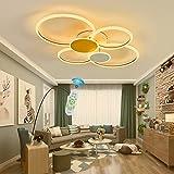 Lámpara de Techo LED Lámparas de Dormitorio Modernas Regulable con Control Remoto Diseño en Forma de Anillo 48W Lámpara de Techo Colgante para Sala de Estar Dormitorio Casa de Campo Oficina Estudio