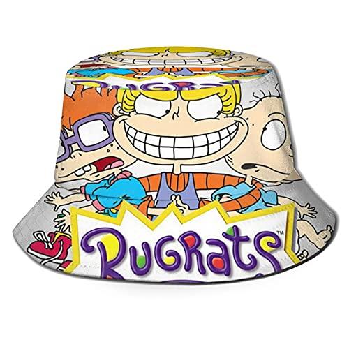 R-UG-Rats in P-Aris Cartoons Anime Fishing Hat, Warm Sweat Wicking Folding Afari Cap Unisex Chef Hat for Outdoor Hiking