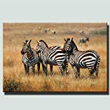 SQSHBBC Afrikanischer Elefant Und Gepard Poster Für Wohnzimmer Wand-dekor Große Klassische Tiere Leinwand Gemälde Cuadros Bilder 40x60 cm ungerahmt