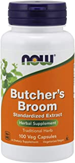 NOW Supplements, Butcher's Broom (Ruscus aculeatus)200 mg, 100 Capsules