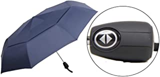 Umbrella Windproof Umbrella Folding Automatic Double Layer Windproof Male Gift Advertising (Color : Blue)