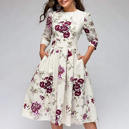 Vectry Vestidos para Niña Vestidos Casual De Mujer Primavera Vestidos Largo De Elegante Moda Mujer 2019 Vestidos Verano Vestidos Mujer Verano Vestidos Mujer Verano 2019 Casual Vestidos Blanco