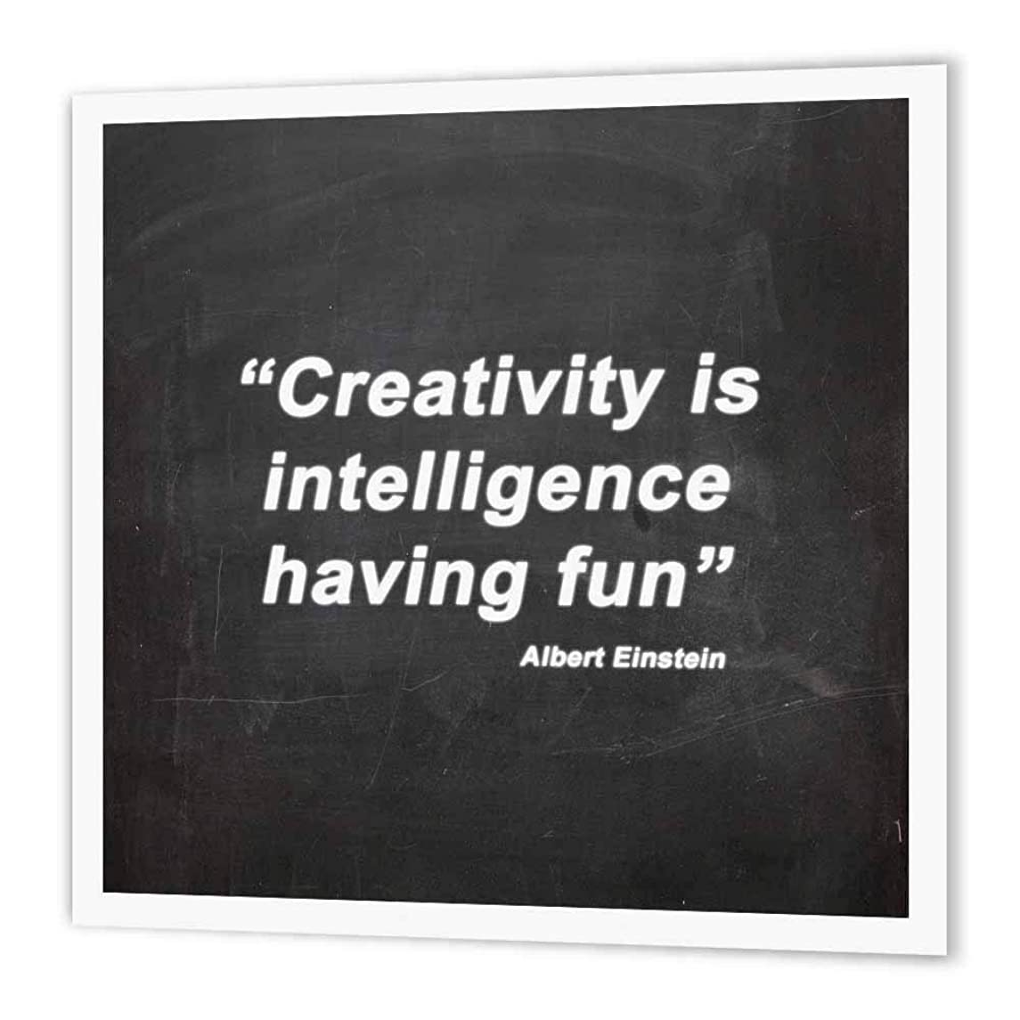 3dRose ht_173269_1 Creativity is Intelligence Having Fun, Quote-Iron on Heat Transfer Paper for White Material, 8 by 8-Inch