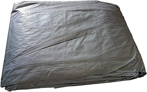 Tarpaulin 3 x 3 m Bodenplane mit Metallringen, Abdeckungen, Hängematte, Sonnenschutz, Zelt, tragbar, wasserdicht, für Autodach, leicht, für Outdoor, Wandern, Camping