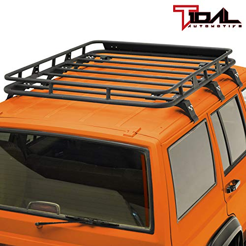 Tidal Cargo Rack Rooftop with Wind Fairing Fit for 84-01 Cherokee XJ