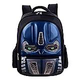 Transformer school bag 3D bags boys babay Backpacks kids Schoolbags Children Primary school Backpacks Mochila Infantil Zip (T-BLUE-S)