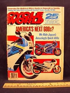 1987 87 February CYCLE WORLD Magazine (Features: Road Test Comparison on Kawaski KX500, Honda CR500 R, and Yamaha YZ490, + Riding Impression on Yamaha FZR400, Honda CBR400 R, and Suzuki GSX - R400)