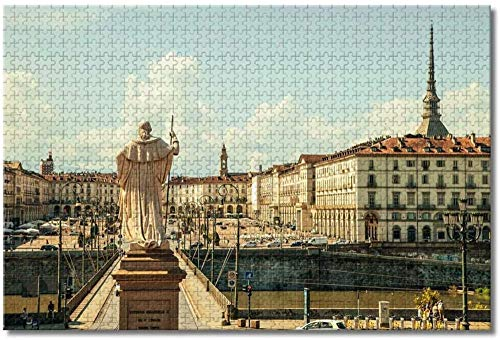 MX-XXUOUO Jigsaw Puzzles,Torino Piazza Italia,Puzzle 1000 Pezzi per Adulti Bambini,75x50cm