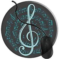 マウスパッド スパイラル音楽ノートと高音部記号 マウスパッド 耐久性が良い 滑り止めゴム マウス用パット 2T584