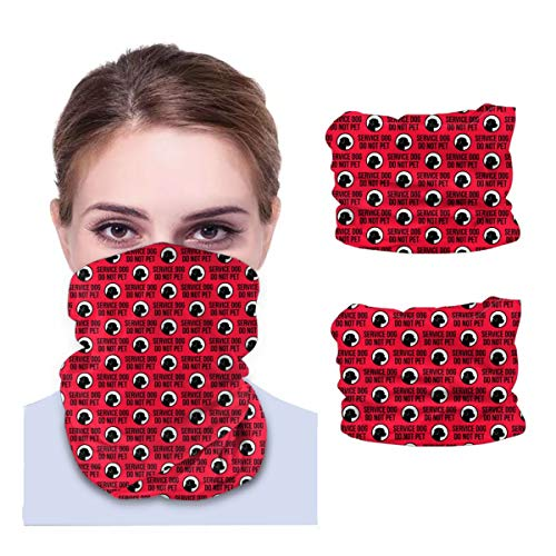 Service Dog Variety face Towel Multifunctional Headband Bandana Sport Snood Elastic Neck Gaiters UV Resistence Balaclava Tube for Running Cycling Outdoors