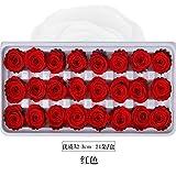 Un Grade 2-3 Cm Fleur Éternelle Rose Mini Fleurs Préservées Bouquet De Tête De Mariée Fleurs Artificielles Bricolage Porte-clés Accessoires Rose Rouge