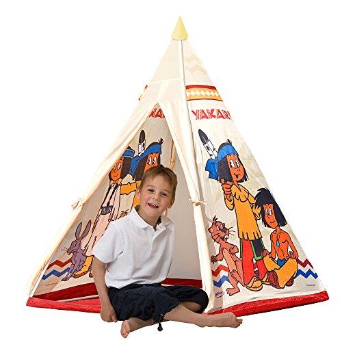 John 78607 - Yakari Tipi tent - Indianentent, Wigwam, speeltent, kindertent, speelhuisje met bedrukt motief voor kinderen