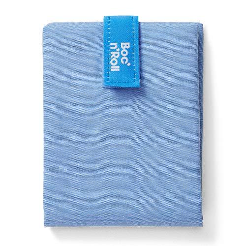 Roll'eat - Boc'n'Roll Nature | Bolsa Merienda Porta Bocadillos, Envoltorio Reutilizable y Ecológico sin BPA, Azul