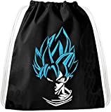 SS Pelo Azul Goku Dragon Mochila Bolsa Gym Bag Sport Jute Pouch, Mochila