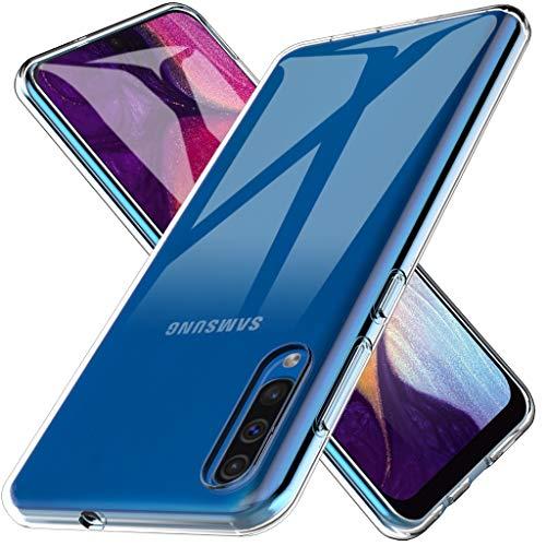 LK Coque pour Samsung Galaxy A50, Ultra [Svelte Mince] Housse Coque Protecteur Silicone Peau Douce Caoutchouc Gel TPU Résistant à la Rayure - Clair